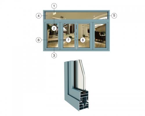 JD75折叠门系列