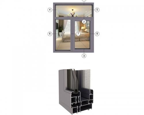 JXF128窗纱一体系列